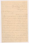 1863-02-26 Isabella Fogg writes to George W. Dyer regarding health and conditions of the 20th Maine Regiment camp near Falmouth, Virginia by Isabella Fogg