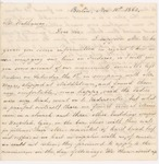 1862-11-10 Correspondence from Isabella Fogg (Maine Sanitary Commission) to J.W. Hathaway regarding condition of Maine soldiers by Isabella Fogg, Israel Washburn, and J. W. Hathaway