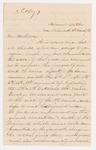 1863-03-08 Correspondence from Isabella Fogg (Maine Sanitary Commission) to J.W. Hathaway regarding condition of soldiers by Isabella Fogg and J. W. Hathaway