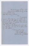 Letter from Lt. Colonel Augustus B. Farnham to Adjutant General Hodsdon, August 21, 1863