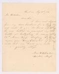 Letter to Adjutant General Hodsdon from Mrs. Henry E. Dexter asking about missing husband, August 3, 1863