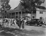 People Exiting a Show at the Lakewood Theater in Madison, Maine by Maine Development Commission
