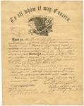 Dexter True, Discharge Certificate, December 1865