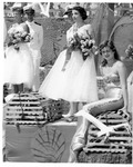 Rockland Seafood Festival, 1958 -  Mermaid and Sea Queen Court on Naval Ship
