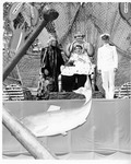 Rockland Seafood Festival, 1958 -  Sea Queen - King Neptiune and Naval Officer