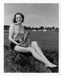 Rockland Seafood Festival, 1958 -  Woman with Lobster