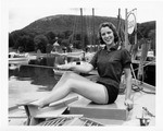 Rockland Seafood Festival, 1958 - Woman on Boat by Maine Department of Sea and Shore Fisheries