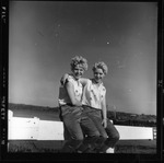 Rockland Seafood Festival, 1958 -  Twins with Lobsters