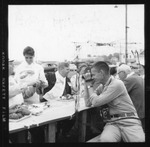 Rockland Seafood Festival, 1958 - Sea Queen Finalist Serving Lobster by Maine Department of Sea and Shore Fisheries