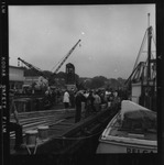 Rockland Seafood Festival, 1958 - Touring Lobster Boats Cranes In Background by Maine Department of Sea and Shore Fisheries