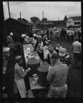 Rockland Seafood Festival, 1958 - Lobster Serving Line by Maine Department of Sea and Shore Fisheries