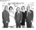 "Octavio Modesto, New Bedford Seafood Council; Miss Louise Santos, ""Miss Scallop Festival 1962""; James Doulous, Jimmie Harborside Restaurant; Barbara Clinton, Sunkist and Don Porter, Sunkist."