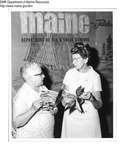 "Eastern States Exposition - ""Brownie"" Schumpf (left) Alice Scott Ross (right) by Maine Department of Sea and Shore Fisheries"