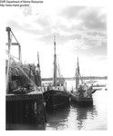 "Draggers ""Santa Lucia"" and ""Dawn and Marie"" Tied Up at a Wharf by Department of Marine Resources"