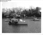 Draggers Moored in a Maine Harbor by Department of Marine Resources