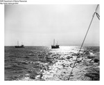 Draggers at Sea by Department of Marine Resources