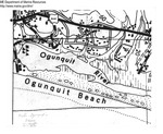 Illustrated Map of Ogunquit Beach and Ogunquit River