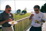 Dan ? and Ben Goodwin Enjoying Lunch on the Maine Coast
