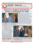 DOCTalk, November/December 2009 by Maine Department of Corrections