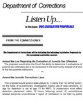 Listen Up, January 1999 by Maine Department of Corrections