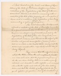 Alabama Resolution, January 1827 by Samuel Oliver, James Thornton, John Murphy, and Nicholas Davis