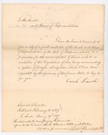 1827-02-12 Governor Lincoln's Transmission of the Alabama Resolution by Enoch Lincoln
