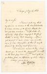 1861 Letter from Justice Appleton Regarding Fugitive Slaves