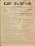 Eliot Epworthian Vol. 2 No. 2, November 1893 by Miss. Annie Raitt, Miss. E. M. Bartlett, Edward Bartlett, and Rev. E. A. Porter