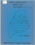 Maine Comprehensive Energy Plan 1976 Edition : Vol. II - Appendix by Maine Office of Energy Resources