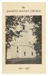 Fayette Baptist Church, 1792-1967 by Reginald H. Sturtevant