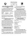 Forest Consultant's Newsletter : September 1998