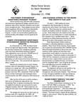 Forest Consultant's Newsletter : December 1998 by Maine Forest Service