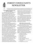 Forest Consultant's Newsletter : April 2002 by Maine Forest Service