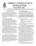 Forest Consultant's Newsletter : November 2002