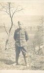 Photograph of Henry L. Foss's Army Friend Standing on a Hilltop, Tree to Side