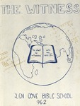 1962 Witness Yearbook for Glen Cove Bible College