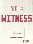 1968 Witness Yearbook for Glen Cove Bible College