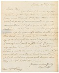 Letter to William King from Hill Oct 12 1813