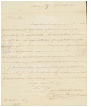 Letter to William King from Howands Sept 8 1810 by Benjamin Howands