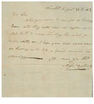 Letter to William King from Carleton Aug 29 1812