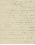 Letter to William King from Foxcroft Jan 10 1812