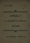 Greely Institute Star May 1896 Vol. 1 No. 5 by Greely Institute