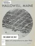Comprehensive Plan for Hallowell, Maine; Vol. 3 : Summary of Comprehensive Plan 1963
