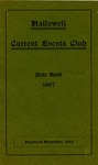 Hallowell Current Events Club Year Book, 1907