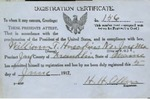 William T. Hawkens' Military Registration Certificate by H. H. Allen