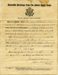William T. Hawkens' Honorable Discharge by United States Army