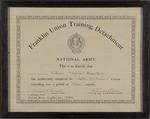William T. Hawkens' Army Training Course Certificate by United States Army