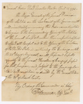 General Orders Regarding Embargo, Boston, April 1794