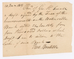Bank draft, Commonwealth of Massachusetts, December 20, 1814