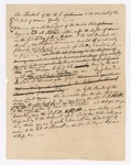 Draft Regarding Thomas Bird Death Warrant from President George Washington to District of Maine, 1790